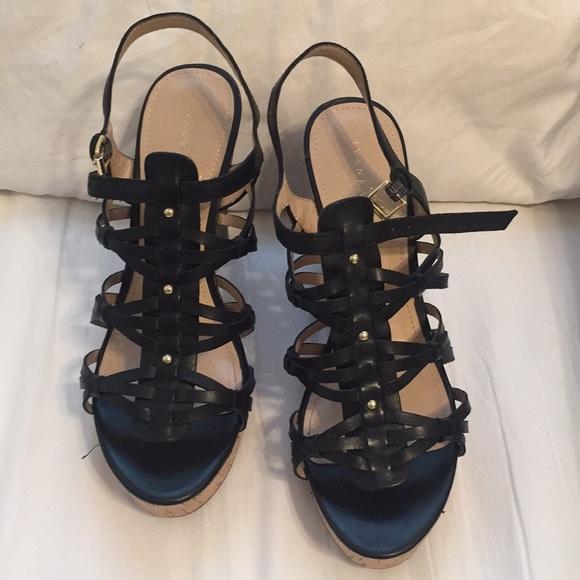 b17a9b212dd Like new Ivanka Trump cork wedge strappy sandals